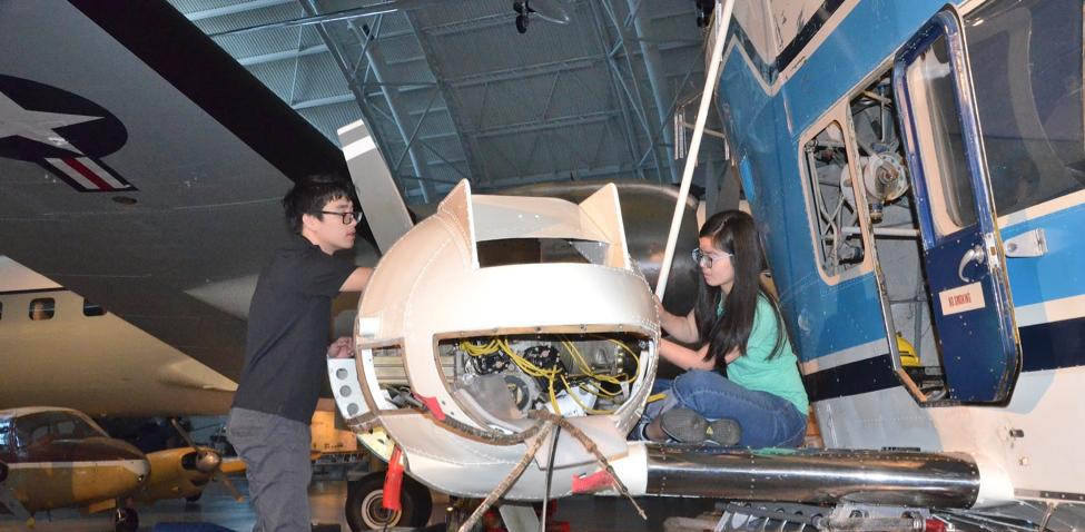 Wai and David Installing Engine